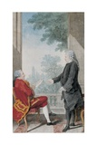 Monsieur De Montule and Monsieur Le President D'Albertas Giclee Print by  Carmontelle