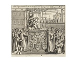 The Pope Carried on Mens Shoulders, Ye Emperors and Kings Walking Before, Illustration from 'Acts… Giclee Print
