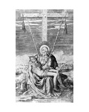Pieta, Engraved by Giulio Bonasone Giclee Print by  Michelangelo Buonarroti