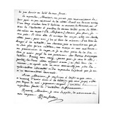 Letter Giving Rousseau's Reasons for Not Writing Further in Support of French Protestants,… Giclee Print by Jean Jacques Rousseau