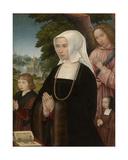 Portrait of Livia Van Steelant, 1524 Giclee Print by Gerard Horenbout