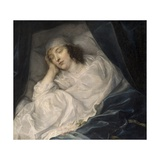 Venetia, Lady Digby, on Her Deathbed, 1633 Giclee Print by Sir Anthony van Dyck