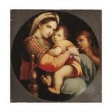 Madonna Della Sedia Giclée-tryk af Raphael