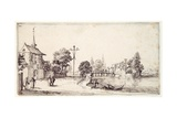 A Road Along the River Bank Giclee Print by Jacques Callot