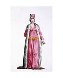 A Noblewoman of Smyrna in Turkey, 1780 Giclee Print by Pierre Duflos