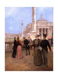 The Grand Plaza, World's Columbian Exposition, C.1893 Giclee Print by Ludovico Marchetti