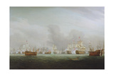 The Battle of the Glorious First of June, 1794 Giclee Print by Thomas Whitcombe