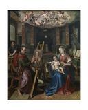 St. Luke Painting the Virgin, 1602 Giclee Print by Maarten de Vos