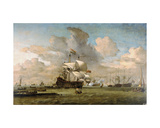 Hollandia, 1692 Giclee Print by Willem Van De, The Younger Velde