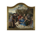 Lamentation of Christ, Altarpiece of the Guild of the Joiners, Centre Panel Giclee Print by Quentin Massys or Metsys