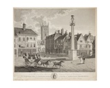 The South West View of the Colegiate Church of St. Peter and Market Place, Wolverhampton, 1824 Giclee Print by W. Fleeming