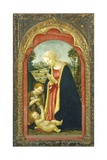 Madonna with Child and Saint John in a Landscape, C.1485 Giclee Print by Francesco Botticini