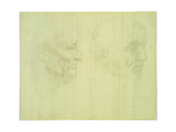 Study of Two Heads Giclee Print by Alphonse Legros