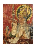 St. Augustine, Bishop of Hippo, Detail of the Pulpit, Church of St. Margaret, Burnham Norton,… Giclee Print