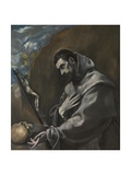 Saint Francis of Assisi in Meditation Giclee Print by  El Greco