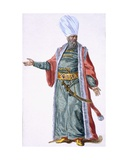 Aga, or Leader, of the Janissaries, 1780 Giclee Print by Pierre Duflos
