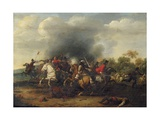 A Cavalry Skirmish Giclee Print by Peeter Snayers