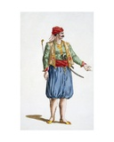 A Soldier of the Turkish Fleet, 1780 Giclee Print by Pierre Duflos