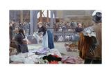 Le Carreau Du Temple, Paris, 1890 Giclee Print by Luis Jimenez Y Aranda