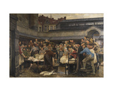 The Old Fish Market in Antwerp in 1882 Giclee Print by Edgard Farasyn