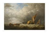 Hay Barges in the Thames Estuary Giclee Print by Alfred Herbert