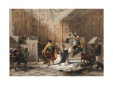 Stalls of the Church of St. Gertrude, Louvain, Sheet 11 from 'Haghe's Portfolio of Sketches:… Giclee Print by Louis Haghe