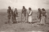 Australian Soldier Meeting Fighters of the Arab Revolt, C.1917-18 Photographic Print by Capt. Arthur Rhodes