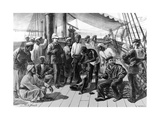 Mr Stanley and Some of His African Followers on Board Hms Industry, Published in 'The Illustrated… Giclee Print by William Heysham Overend
