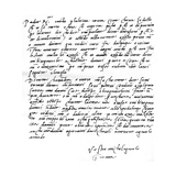 Letter to His Father, Leonardo Di Buonarrota Simoni, at Florence, Contradicting a Rumour of His… Giclee Print by  Michelangelo Buonarroti