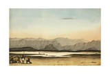 Salt Plain at Mundoolo, Abyssinian Coast, Red Sea, 1833 Giclee Print by Rupert Kirk