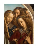 Angel Musicians, Detail from the Ghent Altarpiece, 1432 Giclee Print by Hubert & Jan Van Eyck