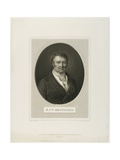 Francois Joseph Victor Broussais, Engraved by H. Bonvoisin Giclee Print by Charles Duchesne