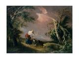 Stormy Landscape, C.1800 Giclee Print by Pierre de Glimes
