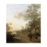 Road by the Edge of a Lake, C.1637-42 Giclee Print by Jan Both