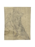 A Male Nude Seen from Behind Giclee Print by  Michelangelo Buonarroti