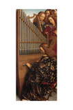 Angel Musicians with St. Cecilia, from the Ghent Altarpiece, 1432 (Detail of 472324) Giclee Print by Hubert & Jan Van Eyck