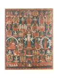 A Paubha of Eleven-Headed Avalokiteshvara Giclee Print