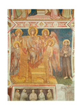Virgin and Child, Angels and St. Francis of Assisi Giclée-tryk af Cimabue