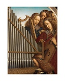 Angel Musicians with St. Cecilia, from the Ghent Altarpiece, 1432 (Detail) Giclee Print by Hubert & Jan Van Eyck