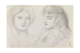 Studies of a Girl, 1867 Giclee Print by Simeon Solomon