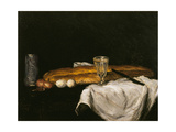 Still Life with Bread and Eggs, 1865 Giclee Print by Paul Cézanne