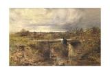 The Footbridge, 1851 Giclee Print by Robert Tonge