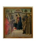 Madonna and Child with Mary Magdalene, John the Baptist, St Zenobius and St Francis Giclee Print by Francesco Botticini