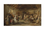 The Penny Wedding, a Sketch, 1830 Giclee Print by Sir David Wilkie