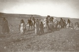 Fighters of the Arab Revolt Moving Through the Moab Hills, C.1917-18 Photographic Print by Capt. Arthur Rhodes