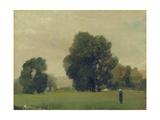 Prairies De La Roche-Guyon, 1859 Reproduction procédé giclée par Camille Pissarro