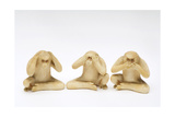 The Three Wise Monkeys Giclee Print by  Japanese School