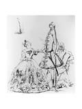 Thou Tuneful Scarecrow and Thou Warbling Bird', Caricature of Farinelli, Cuzzoni and Heidegger Giclee Print by Joseph Goupy