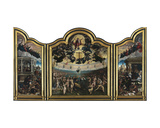 The Last Judgement and the Seven Works of Mercy Giclee Print by Bernard van Orley