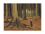 A Girl in a Wood, 1882 Giclee Print by Vincent van Gogh